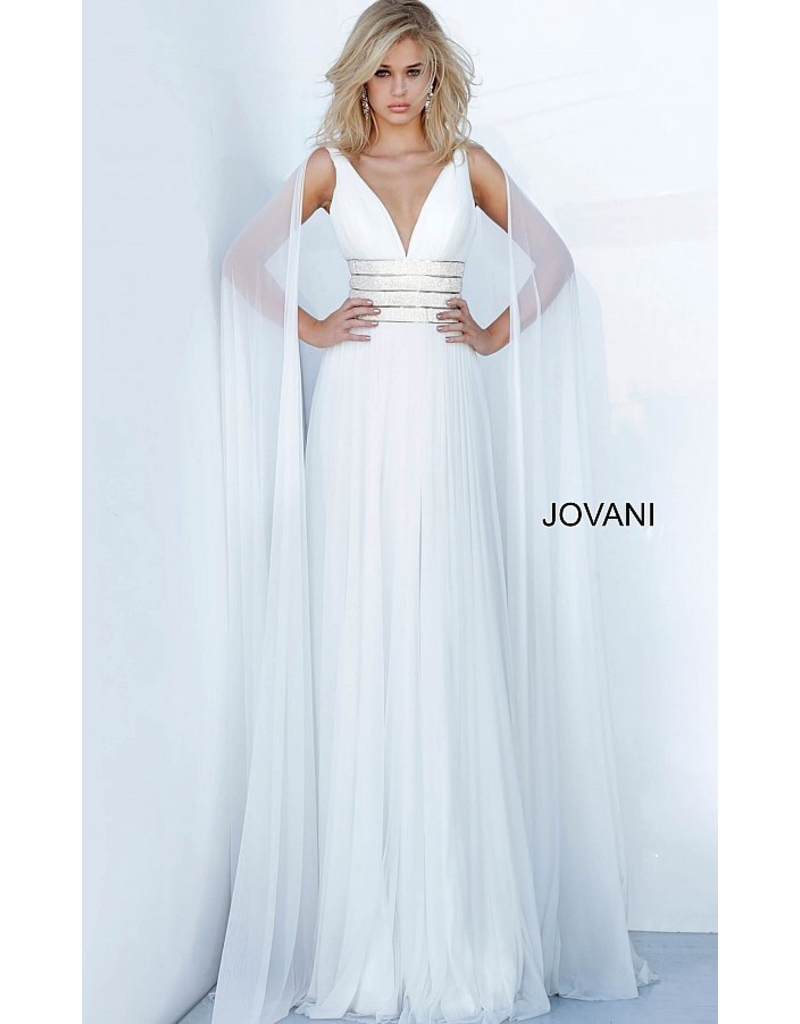 Dresses 22 Jovani Chiffon Dream White Formal Dress
