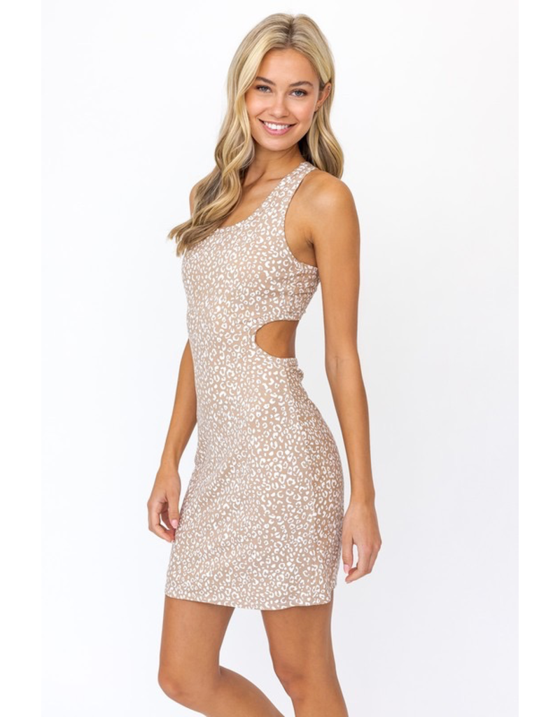 Dresses 22 Taupe Leopard to Me Open Back Dress