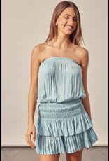 Dresses 22 Cloud Blue Strapless Ruffle Dress