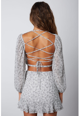 Tops 66 Pretty Paisley Open Back White Top