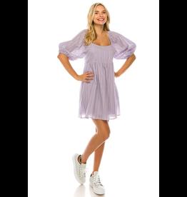 Dresses 22 Lavender Puff Sleeve Dress