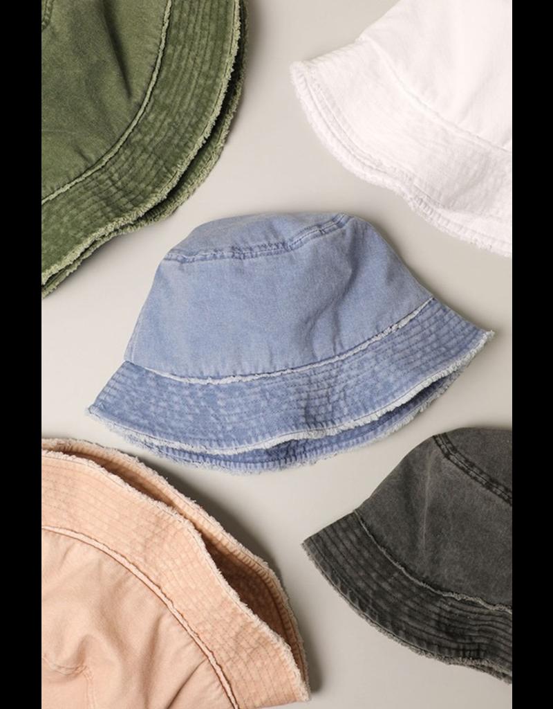 Accessories 10 Frayed Edge Denim Bucket Hat