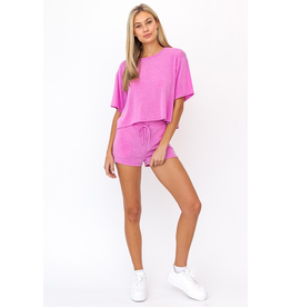 Tops 66 Summer Seeker Hot Pink Cropped Tee