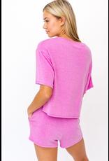 Tops 66 Summer Seeker Hot Pink Cropped Tee