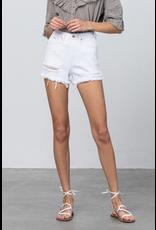 Shorts 58 High Rise White Moderate Distressed Denim Shorts