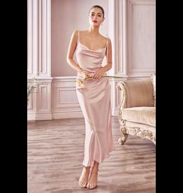Dresses 22 Make Me Blush Satin Slip Midi Dress