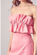 Dresses 22 Strapless Such a Doll Tie Back Dress