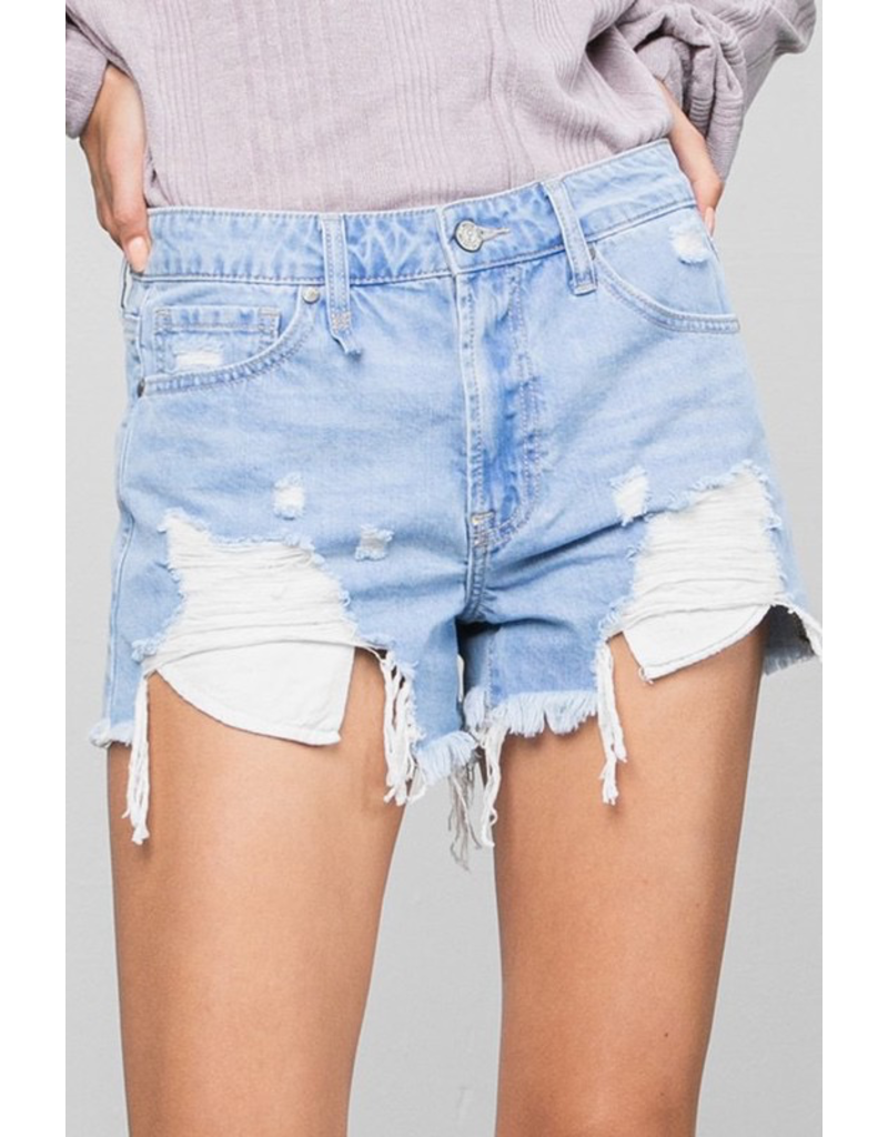 Shorts 58 Frayed and Fun Light Wash Denim Shorts