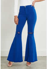 Pants 46 High Waisted Royal Blue Flares
