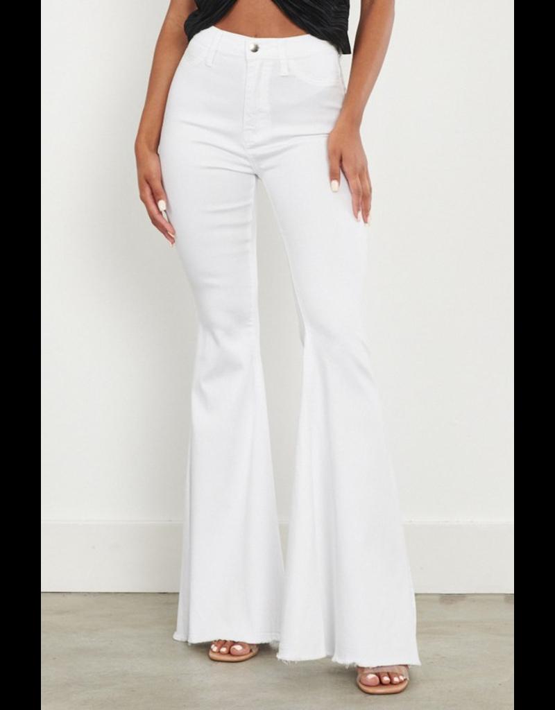 Pants 46 High Waisted White No Distress Flares