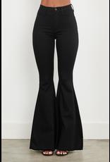 Pants 46 High Waisted Black No Distress Flares