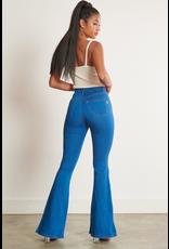 Pants 46 High Waisted Medium Wash No Distress Flares