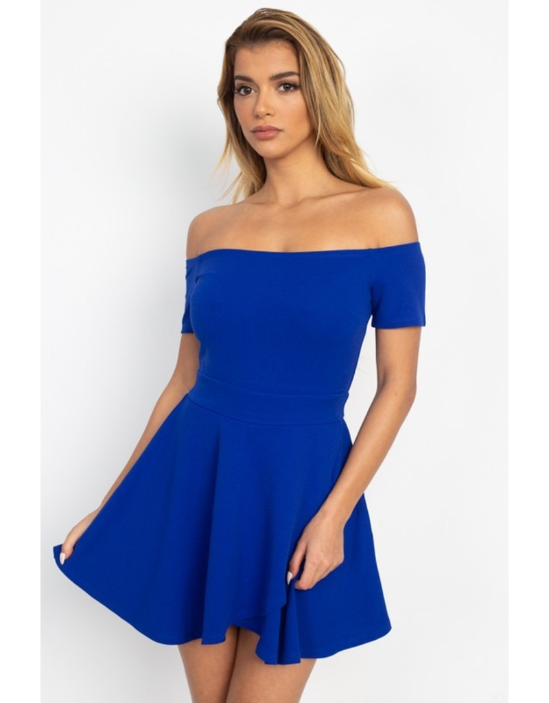 Dresses 22 Off Shoulder Fit and Flare Romper (Availble in 2 Colors)