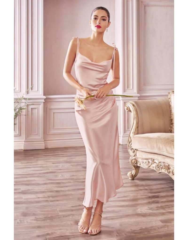 Dresses 22 Make Me Blush Satin Slip Midi Dress (Available in 3 Colors)