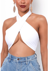 Tops 66 Wrap It Up Halter Top (Available In 2 Colors)