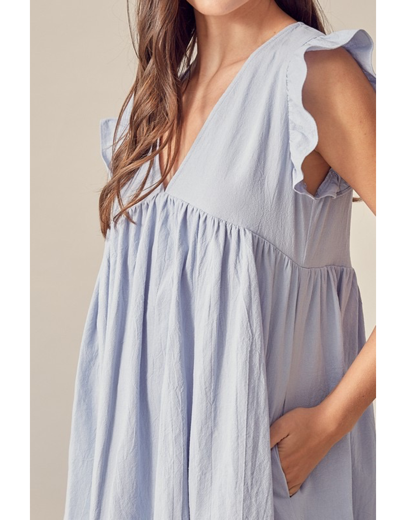Rompers 48 Celebrate With Me Baby Blue Baby Doll Romper