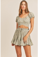 Skirts 62 Forever Floral Sage Flouncy Skort