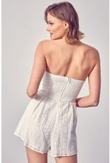 Rompers 48 Best Is Yet to Come White Eyelet Strapless Romper