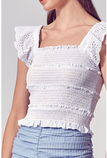 Tops 66 Summer In The Sun Ruffle Smocked Top