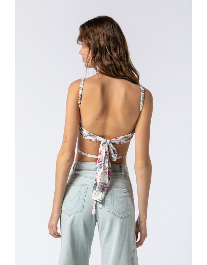 Tops 66 May Day Floral Tie Back Top