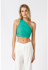 Tops 66 Color Pop One Shoulder Top (Available In Hot Pink and Green)