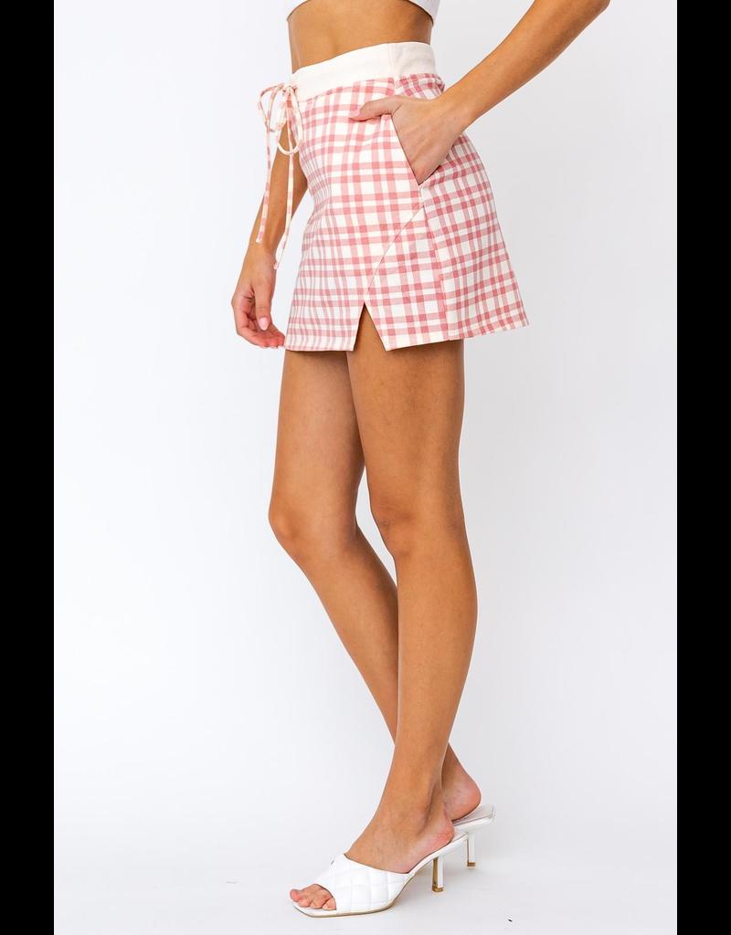 Skirts 62 Strawberry Cream Plaid Skirt