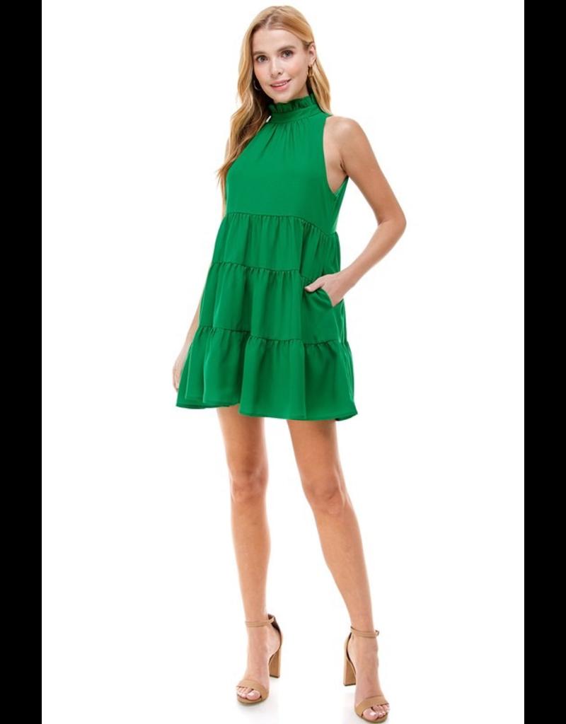 Dresses 22 Go Green Tiered Ruffle Dress