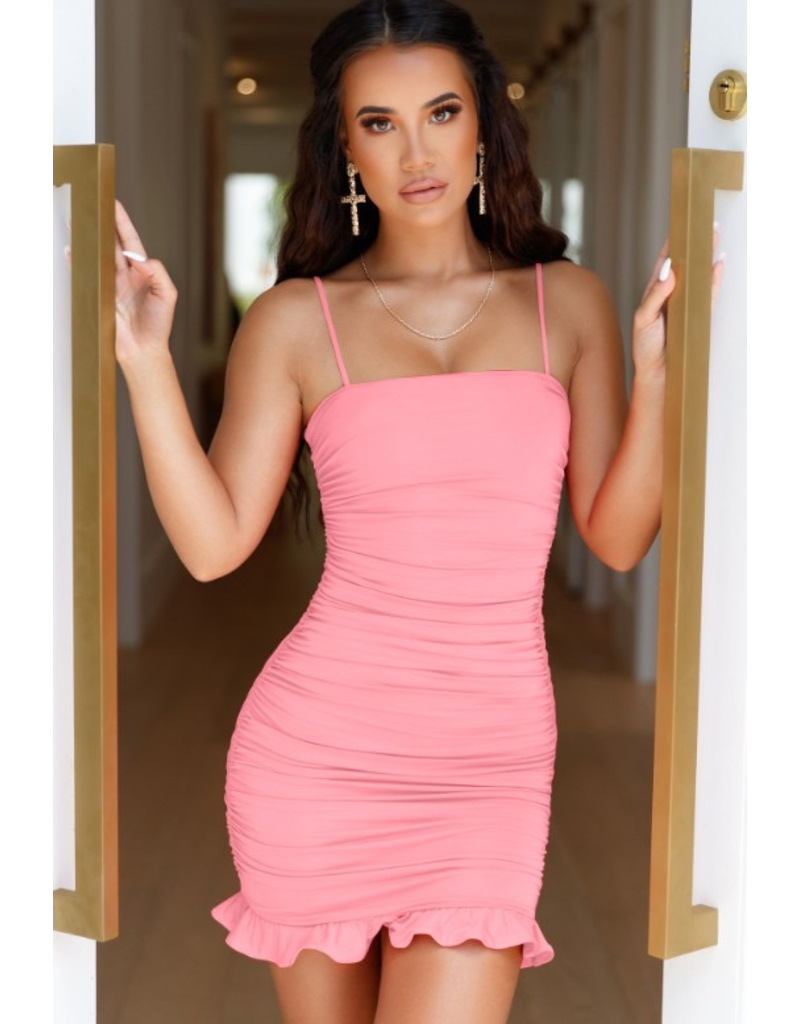 Dresses 22 Ruffle and Ruched Party Dress (Availble In 4 Colors)