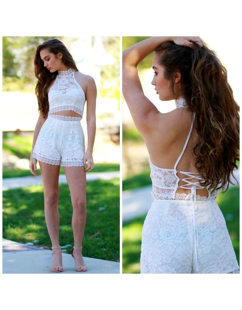 Shorts 58 Lace Lover White Shorts