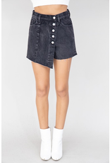 Skirts 62 High Rise Denim Button Front Skort (Available In 3 Colors)