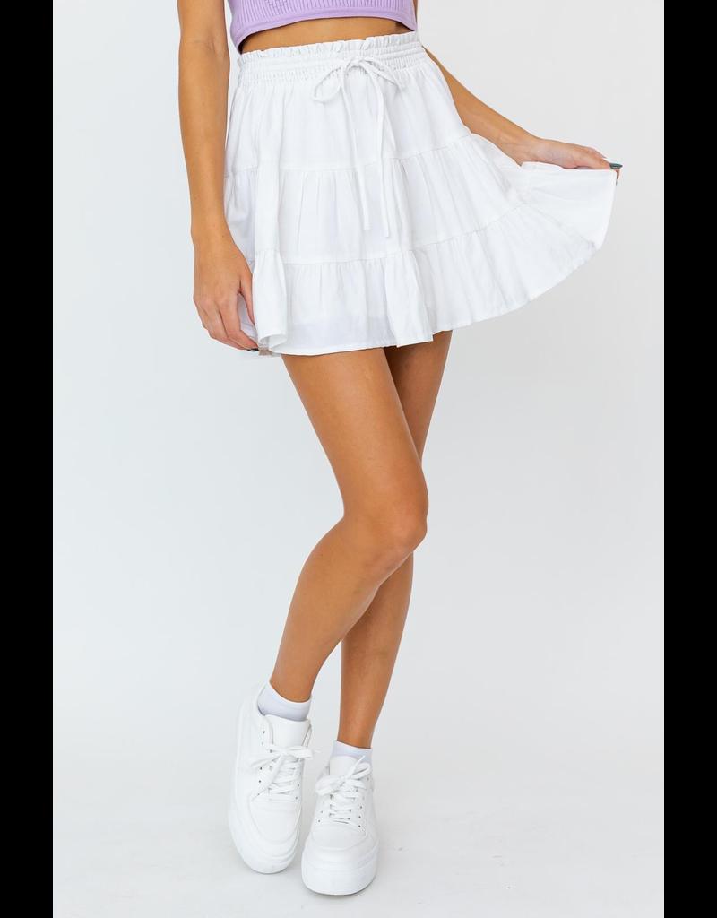 Skirts 62 Right On White Smocked Skirt