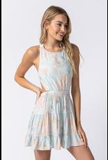 Dresses 22 Water Color Aqua Tie Dye Open Back Dress