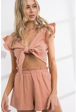 Tops 66 Summer Sunset Tie Front Top (Available In 2 Colors)
