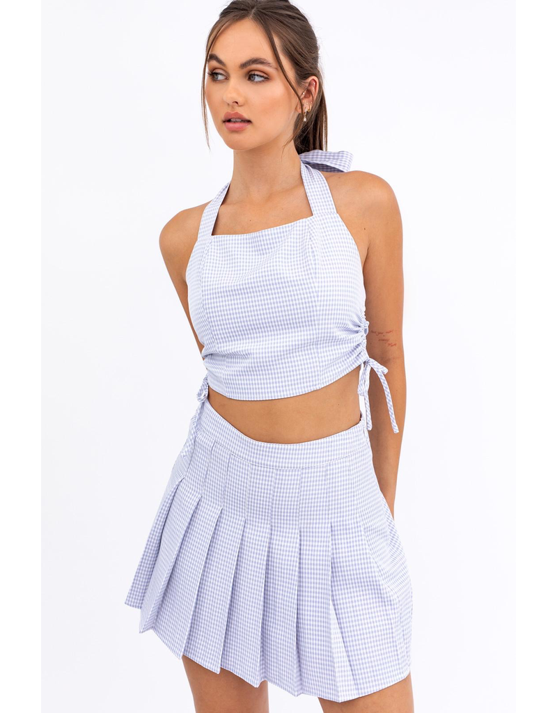 Skirts 62 Check Me Out Pleated Blue Skirt