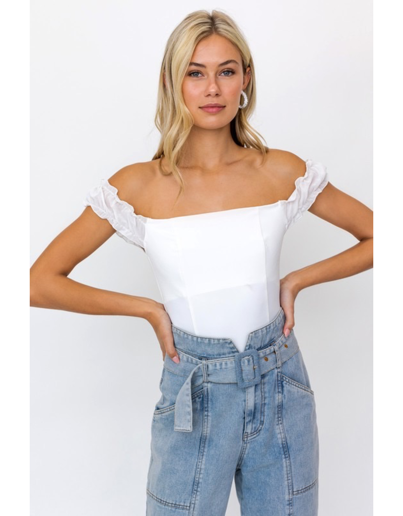Tops 66 Cute as Can Be White Bodysuit