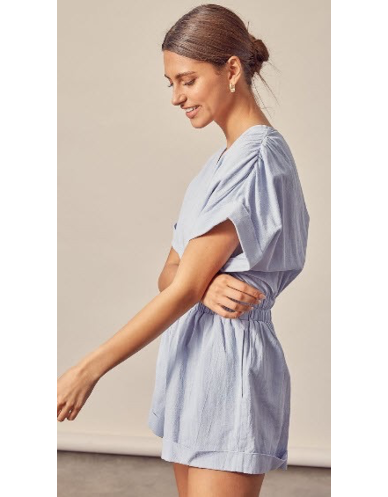 Rompers 48 Misty Blue Summer All Cotton Romper