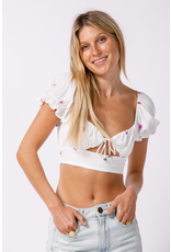 Tops 66 Blooming Babe Pink Floral Freesia Top