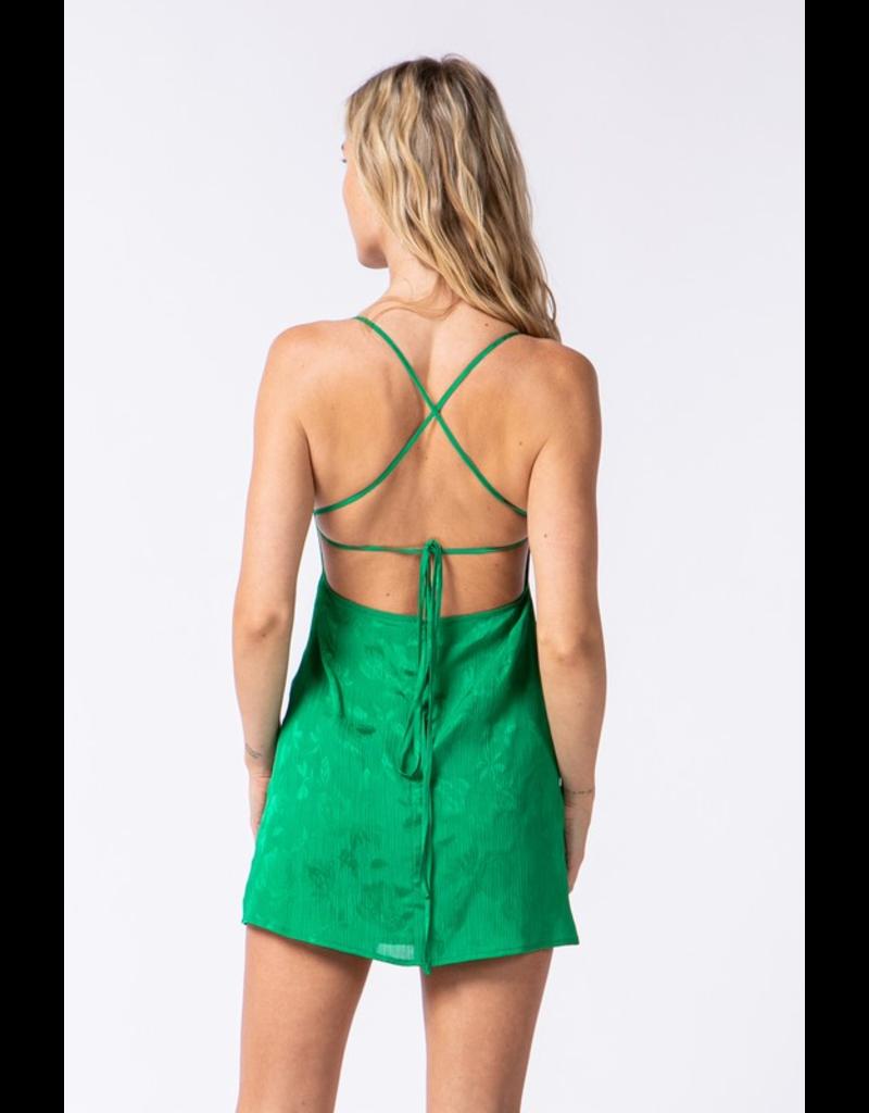 Dresses 22 Brighten Up Bright Green Tie Back Dress