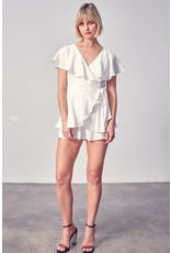 Rompers 48 Wrap and Open Back White Romper