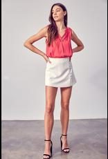 Skirts 62 Button Up White Skort