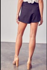 Skirts 62 Button Up Black Skort