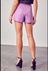 Skirts 62 Button Up Lilac Skort