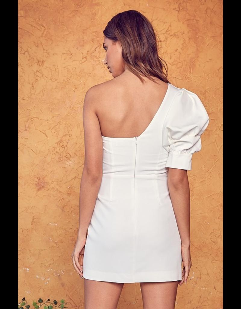 Dresses 22 Heat It Up One Shoulder White Dress