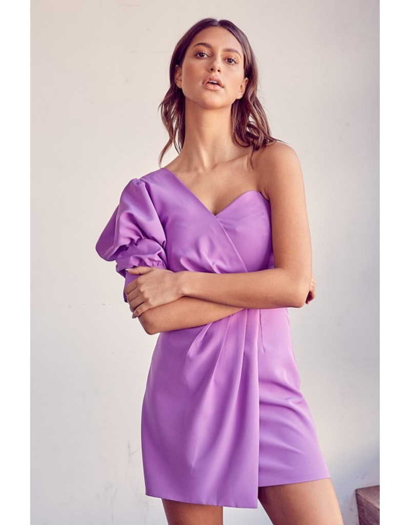 Dresses 22 Heat It Up One Shoulder Lilac Dress