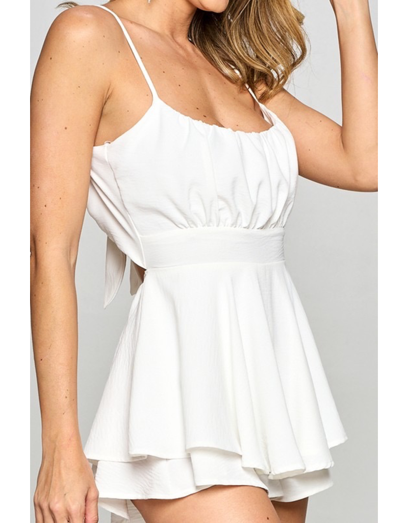 Rompers 48 Love To Celebrate Tie Back Party Romper (Available In White and Blush)
