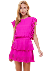 Dresses 22 Party Time Hot Pink Ruffle Dress