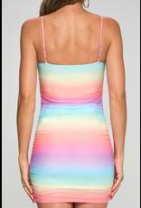 Dresses 22 Rainbow of Color Mesh Dress