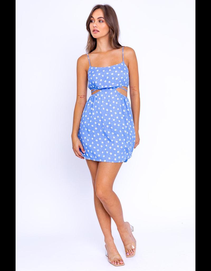 Dresses 22 Flourishing Blue Floral Ditsy Dress