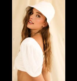 Accessories 10 White Swiss Dot Summer Bucket Hat