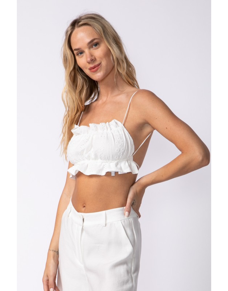 Tops 66 Nothing Like You White Eyelet Top